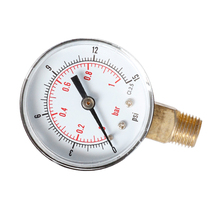 Radial Pressure Gauge 0-1bar TS-Y504-15psi for Oil Air Water Accurate Measuring 1/4BSPT Tool Provide Measurements