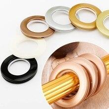 Нежные пластмассовые кольца для штор нано занавес перфорированные римские кольца глушителя кольца украшения дома аксессуары