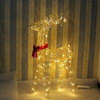 Christmas deer decoration decoration decoration 1.2m tieyi Christmas deer glow with lights doll Christmas deer cart decoration