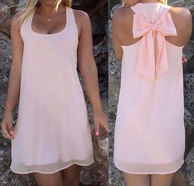 Летнее платье, Летний стиль, Женский Повседневный Сарафан размера плюс, женская одежда, Пляжное платье, шифоновое женское платье - Цвет: Pink2
