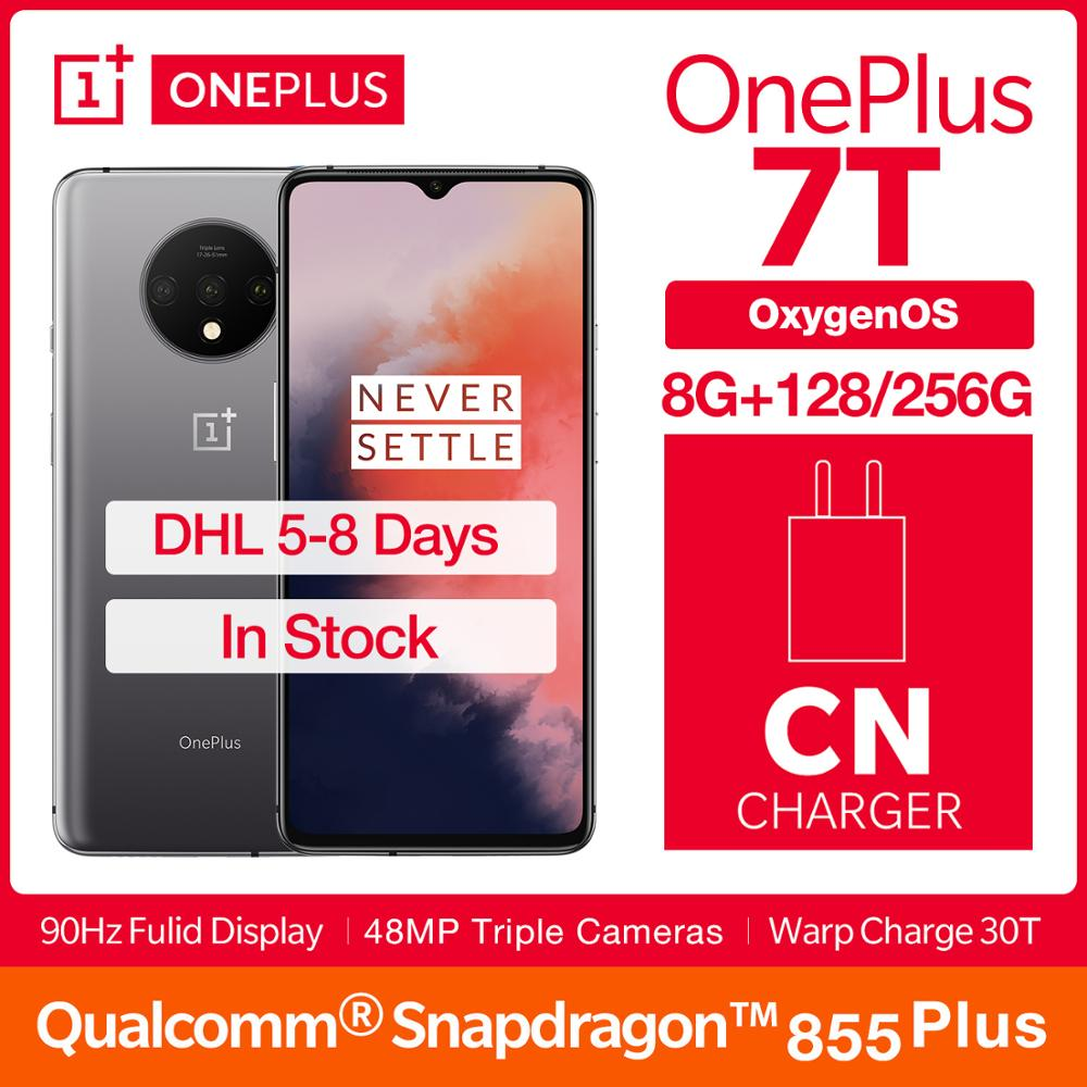 OnePlus 7T Global ROM Smartphone Snapdragon 855 Plus 6.55'' AMOLED Screen 90Hz Fluid Display 48MP Triple Cam 30W Charge