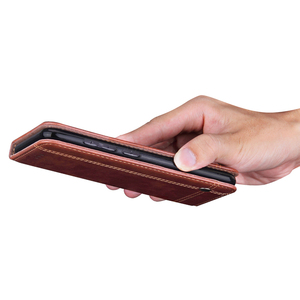 Image 5 - Capa de couro retro flip para xiaomi redmi nota 9 pro caso carteira suporte de cartão magnético livro capa para redmi nota 8 9s 7 9a 9c caso