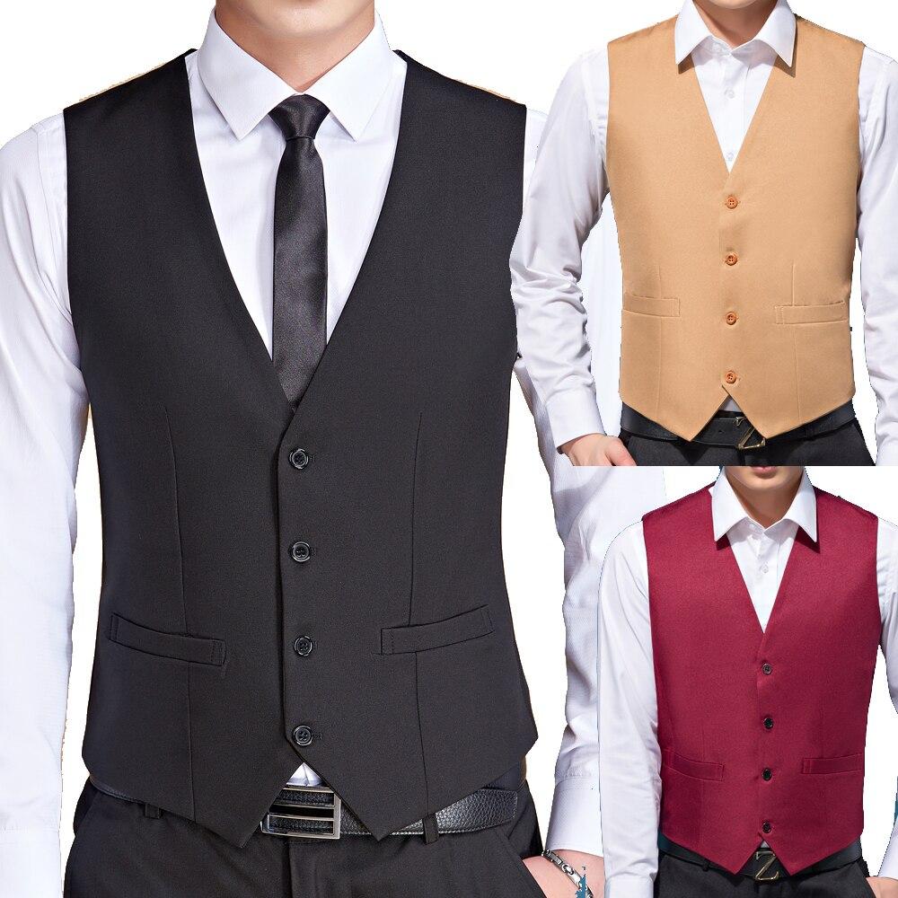 Homens cor preta terno de casamento coletes para homens fino ajuste vestido colete masculino formal smoking colete negócios casual sem mangas jaqueta
