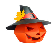 Paper-Mask Pumpkin-Head 3d with Fashion Hat Costume Cosplay DIY Christmas Halloween Party-Gift