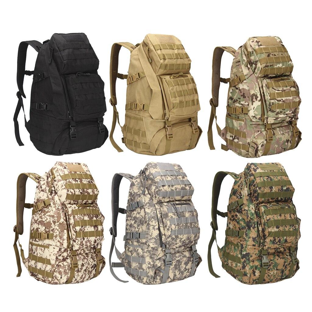 36-55L Waterproof Outdoor Backpack Rucksack Molle Backpack Hiking Camping Backpack Travel Rucksack Outdoor Sports Climbing Bag
