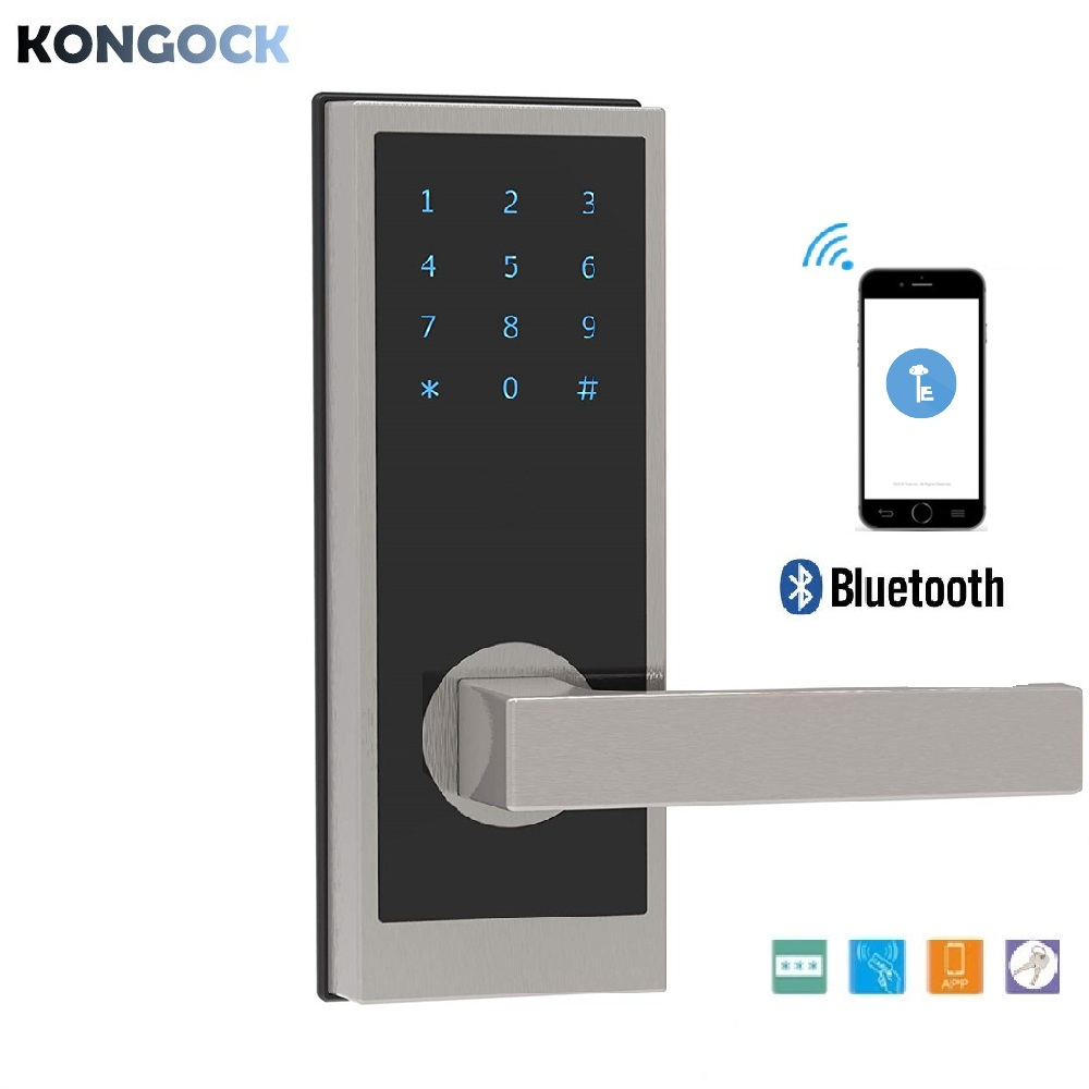 Electronic Bluetooth Smart Digital Door Lock, In-App Monitoring Unlimited E-Keys RFID Card Keyless Lock