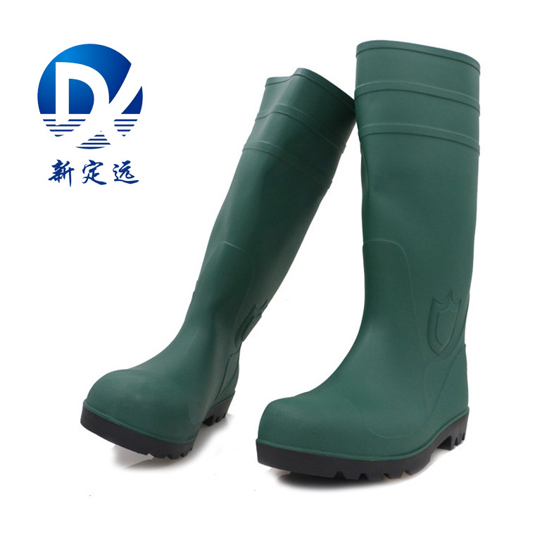 PVC Rain Boots Smashing Stab Boots  Anti-slip Oil-Resistant Waterproof Mine Boots Woking Boots Food Boots Men And Women