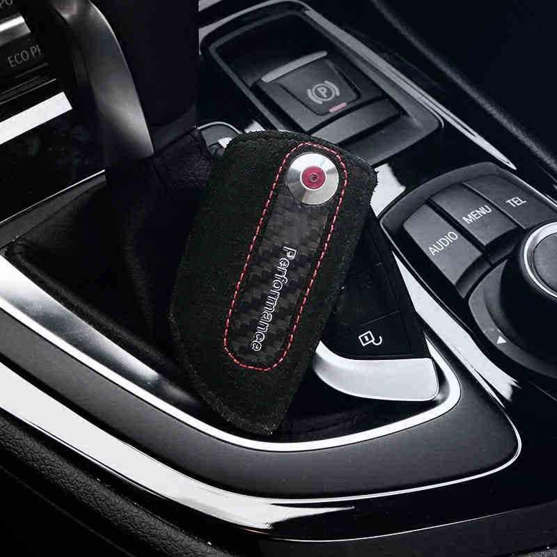 Modèles DE VOITURE M Performance étui à clés en cuir Sac Fob Pour BMW X5 F15 X6 F16 F30 F10 F18 1 3 5 7 Série X3 X4 M3 M4 M5