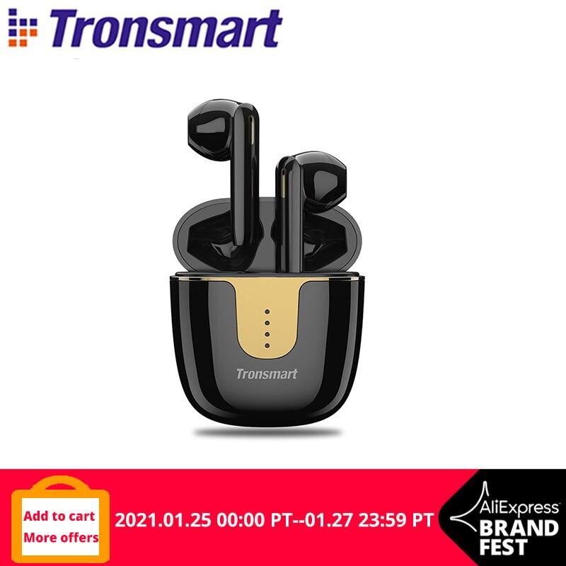 Tronsmart-auriculares inalámbricos Onyx Ace APTX con Bluetooth, dispositivo de audio TWS, con Chip Qualcomm, Control de volumen, duración de reproducción de 24H