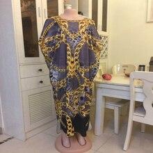 Новинка, Африканский бриллиант, хлопок, шифон, длинное Дашики платье для леди, Длина: 140 см, ширина: 120 см