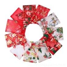 50/100 viên 10X15 13X18cm Màu đỏ trắng Giáng Sinh Đàn Organ Túi Gai Nguyên Tố Trang Sức túi Đóng Gói Drawable Đàn Organ Tặng Túi 55