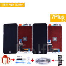 For iphone 7 Plus LCD OEM Display Touch Screen Digitizer Panel Pantalla monitor LCD Assembly Complete With 3D Touch 5.5