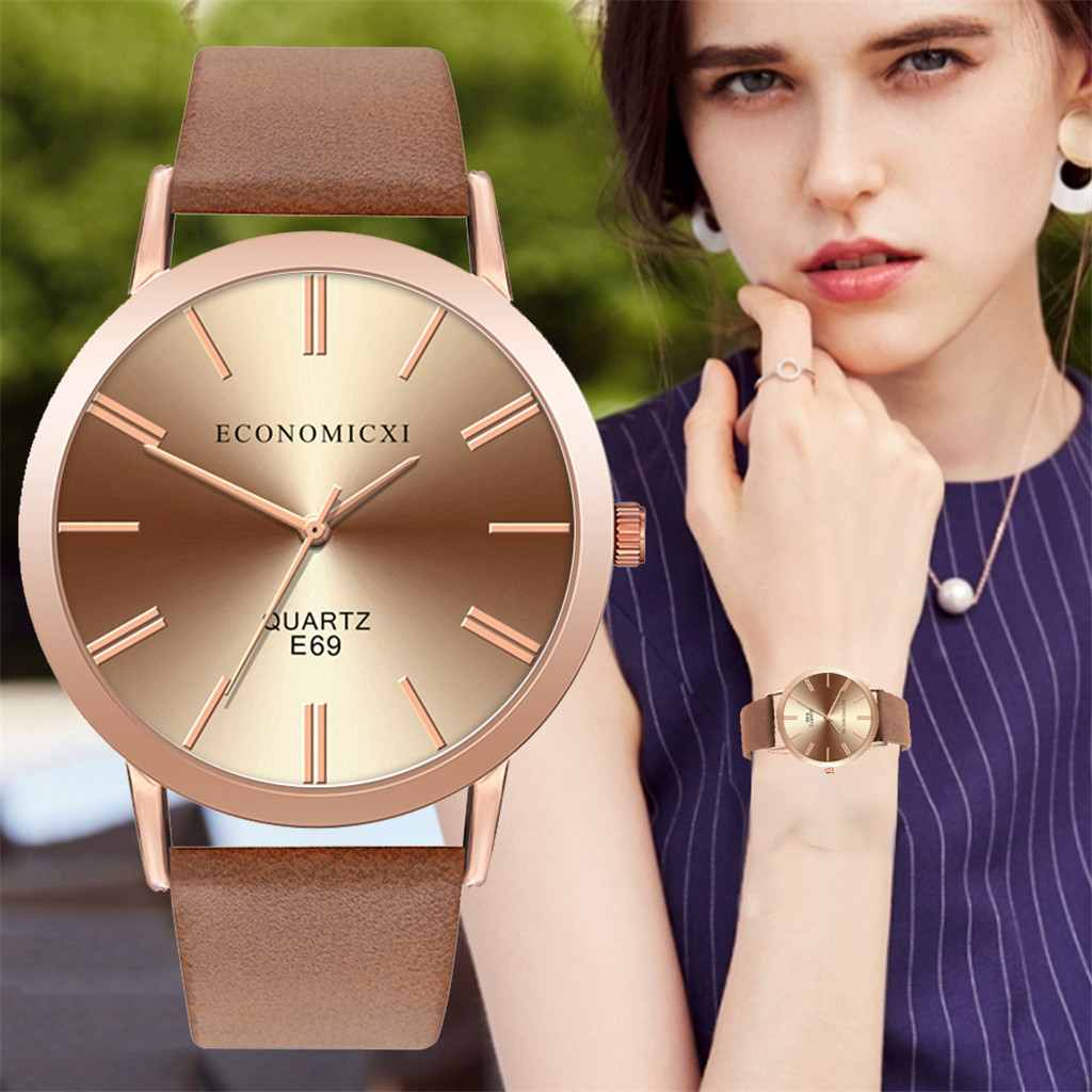 Luxury Clocks Minimalist Women's Casual Bracelet Watch Quartz Leather Belt Band Fashion Wrist Elegant Watches Relogio Feminino