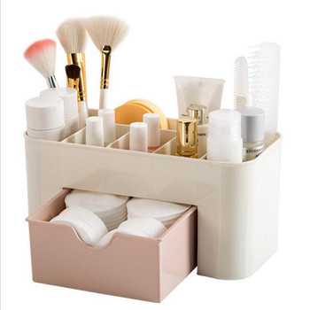 Plastic Storage Box Makeup Organizer Case Drawers Cosmetic  Jewelry Display Office Sundries Box Home Make Up Container Boxes multi layer plastic makeup drawers storage box jewelry container make up organizer case cosmetic office boxes large capacity