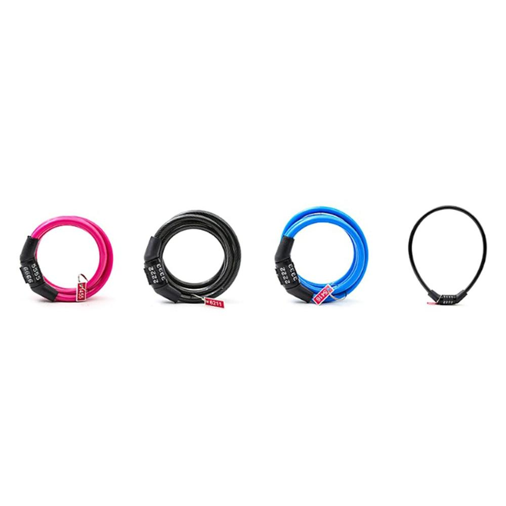Universal Anti-Theft Bicycle Lock Battery Car Clothing Lock Mountain Bike Chain Lock Cable Lock Fixed Password
