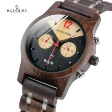 BOBO BIRD Couple Watch Men Women Wood Quartz Wristwatch Auto Date Male Best Gift relogio masculino With Wooden Box V-S15 bobo bird g26 brand design mens bamboo watch green second pointer quartz watches for men women as best gift wood gift box