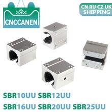 4 PZ/LOTTO SBR10UU SBR12UU SBR16UU SBR20UU SBR25UU 12 millimetri 16 millimetri 20 millimetri Linear Ball Bearing Block per il Router di CNC SBR Lineare Binario di Guida