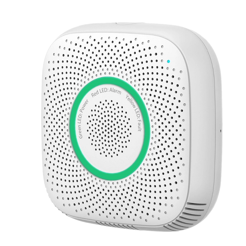 ABKT-Tuya Wifi Gas Leak Detector Fire Security Alarm Safety Smart Home Leakage Lpg Sensor Combustible EU Plug