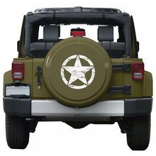 50cm Big Military Army Star Cars Stickers Decal for Jeep Sticker Large Vinyl Graphic Car Body/Window Stickers Vinyl Car-styling noizzy 1 set band of brothers ho willys star car auto vinyl reflective sticker decal whole body kit for jeep wrangler cherokee