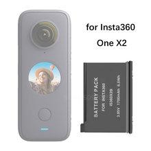 Em Estoque! Insta360 um x2 bateria 1700mah universal 3 baterias carregador hub para insta 360 um x 2 acessórios da câmera de ação