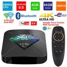 X10 برو أندرويد 9.0 مربع التلفزيون الذكية Amlogic S905X2 رباعية النواة 4GB RAM 64GB ROM BT4.0 2.4G/5G ثنائي واي فاي USB3.0 ثلاثية الأبعاد 4K HDR مجموعة صندوق