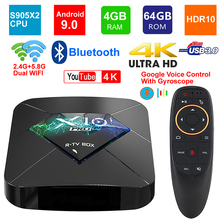 X10 Pro Android 9.0 Smart Tv Box Amlogic S905X2 Quad Core 4Gb Ram 64Gb Rom BT4.0 2.4G/5G Dual Wifi USB3.0 3D 4K Hdr Set Top Box