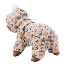 Jacket Beige Flannel Pajamas Pet-Jumpsuit Star-Costume Dogs Winter for Cats XS-XXL Sandy