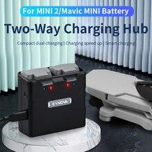 Cho DJI Mavic Mini/2 Hai Cách Hub Sạc 18W Sạc Nhanh 2 Pin Quản Lý Power Bank cho DJI Mavic Mini 2