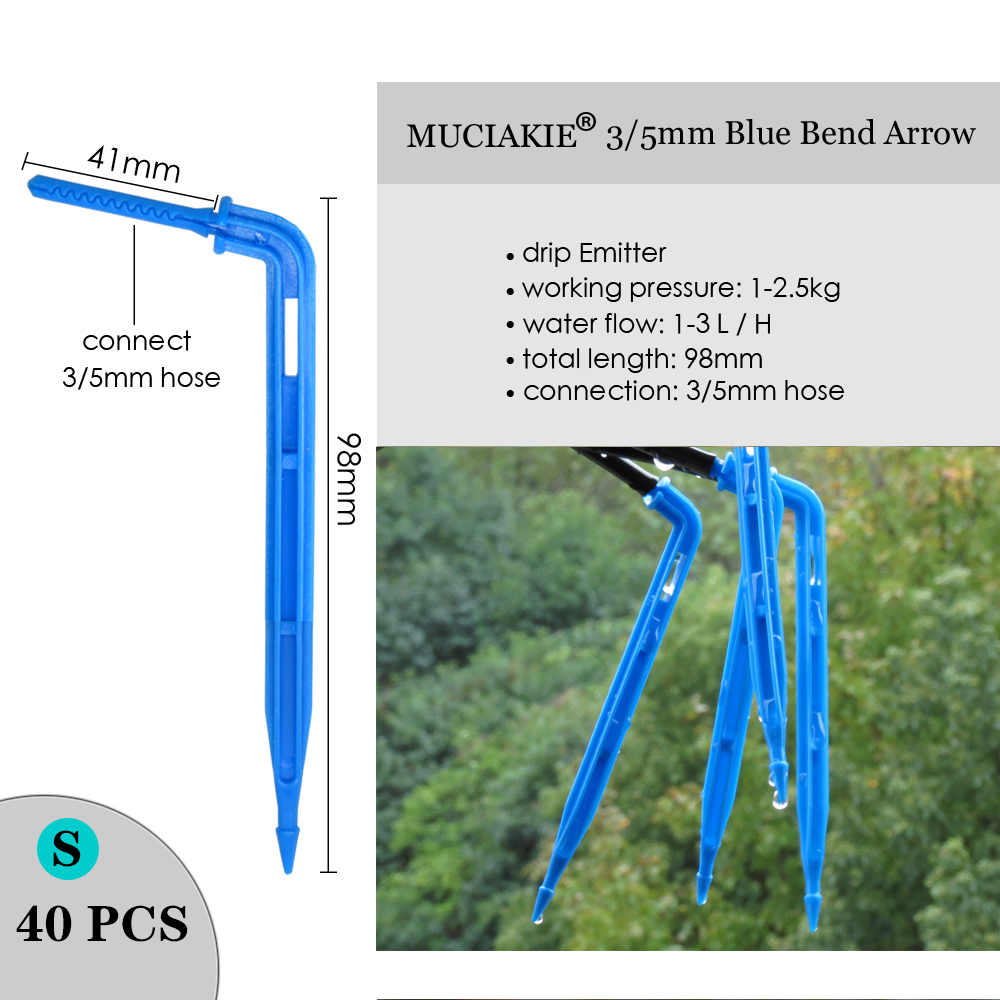 H7750661e4ec349719bba0b96b1d231f1m MUCIAKIE Variety Style Adjustable Irrigation Sprinkler Garden Emitters Stake Dripper Micro Spray Rotating Nozzle Watering Arrow