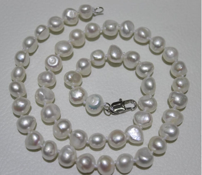 """Natural Color 9-10mm AAA South Sea Cultured Pearl Necklace 18/"""" HOO Hot 2019"""