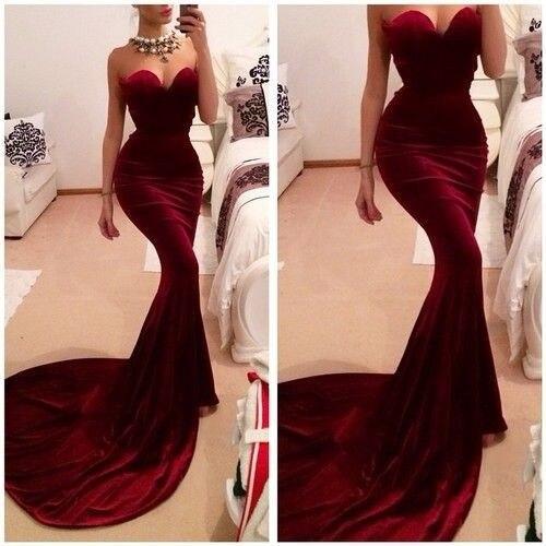 2019 longue sirène robes de bal vin rouge Satin parole longueur vestido de noiva Discount célébrité fête robe de soirée livraison gratuite