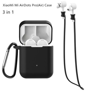 Silicone Case For Xiaomi airdots Pro true Wireless Bluetooth Earphone Shockproof Bags for Xiaomi air airdots case cover(China)