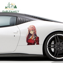 EARLFAMILY 43cm x 29.4cm For Zero Two Motorcycle Car Stickers Vinyl Material Decal Personality Waterproof Decals Decoration