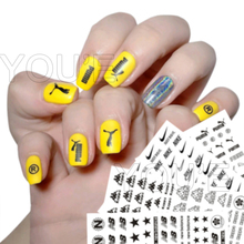 цена на Nail Art Decorations Stickers Sport Brand Logo Nail Sticker Self-adhesive DIY Decals Tips Manicure All Nail Art Stickers Decals