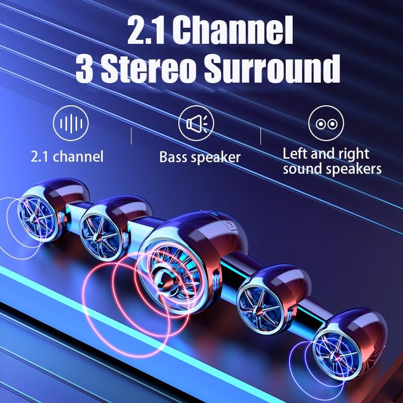 Soundbar With Subwoofer Bocinas Bluetooth Speaker Alta Fidelidad Caixa De Som Para Pc Computer Speakers Hifi Altavoces Desktop