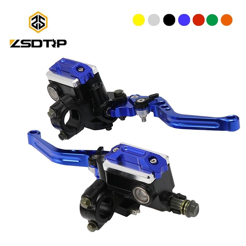 ZSDTRP 1Pair 22mm Motorcycle Roller Adjustment Brake Clutch Levers Universal CNC Motorcycle Handlebar Hydraulic Brake Pump