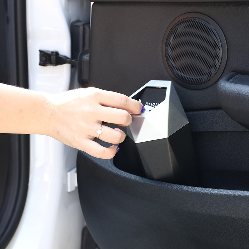 cheapest Car Trash Can Mini Bin Door Hanging Box Car-styling Rubbish Box Dust Case Auto Storage Holder Container Cleaning Supplies