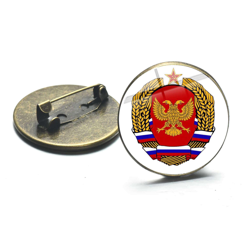 Hot Soviet Uni Soviet Bros Bintang Merah Sabit Hammer Komunisme Emblem Pro Kitty Logo Kubah Kaca Perunggu Berlapis Bros Vintage Hadiah