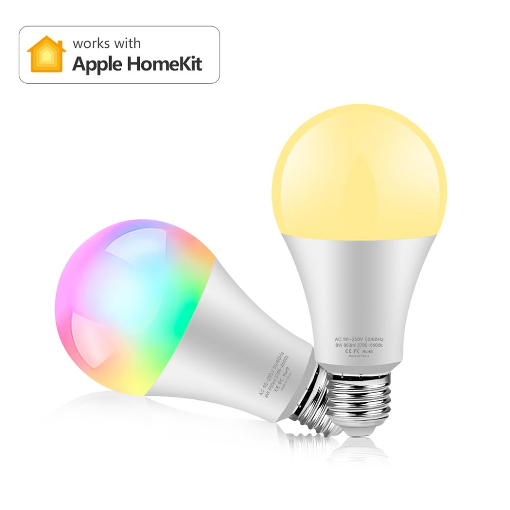 Luz mágica do rgb rgbw rgbww da lâmpada do diodo emissor de luz da base da c.a. 110-240v 15w e27 compatível com o aplicativo homekit da apple ou bluetooth