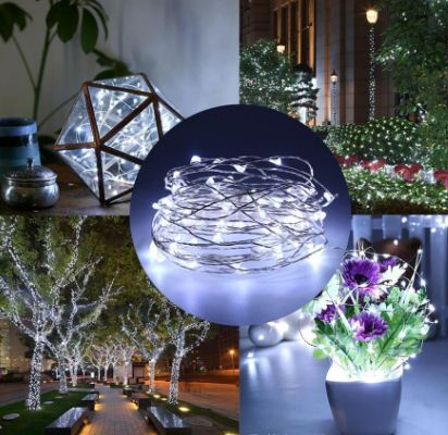 Garland Led String Light 2M 5M 10M  Chandlier Flash Lamp Srip For Indoor And Outdoor Home Garden Christmas LED Decorations