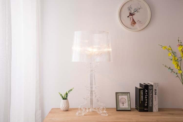 Claro acrílico candeeiros de mesa para sala