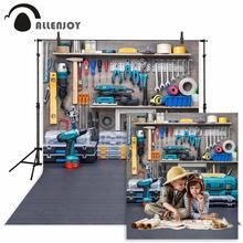 Allenjoy 워크샵 장면 도구 테이블 수리공 어린이 사진 스튜디오 배경 photocall photobooth 사진 배경