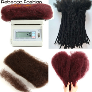 Image 2 - Rebecca Brazilian Remy Hair Afro kinky Curly Bulk Human Hair For Braiding 1 Bundle 50g/pc Natural Color Braids Hair No Weft