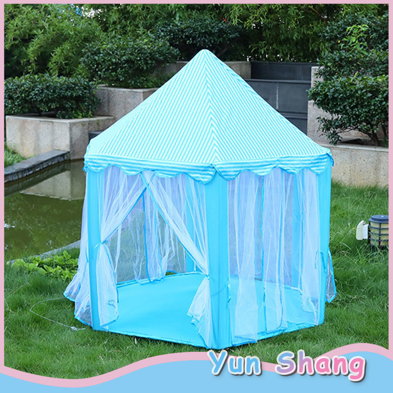 Children Kids Play Tents Fairytale Girls Princess Hexagon Playhouse UK Playhouses Outdoor Game Play Tent For Kids Boys&Girls image