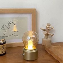 Retro LOFT Night Light Black Iron Art LED Light Edison Bulb USB Charging Lamps Kids Bedroom Bedside Lam Home Deco Nightlight DC