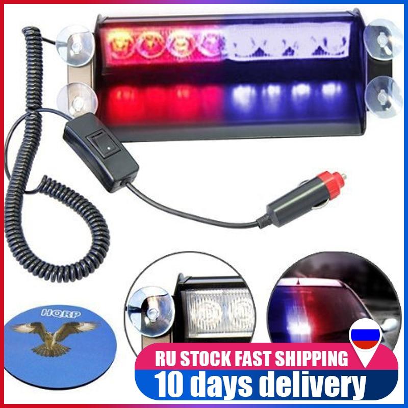 Blue 12-85V Car Truck Flashing Emergency Warning LED Strobe Lights Flasher