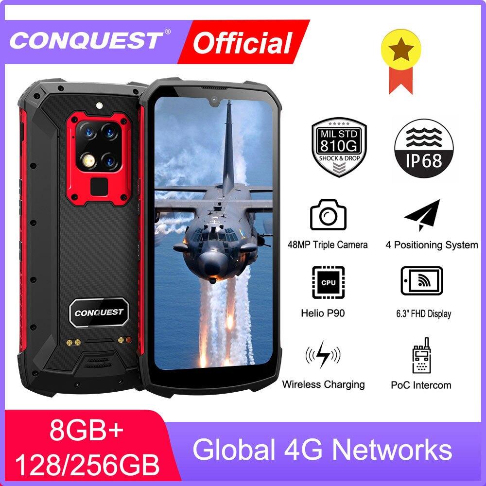 CONQUEST S16 IP68 Ударопрочный водонепроницаемый прочный смартфон Android кнопочный мобильный телефон сотовый Смартфон Мобильные телефоны