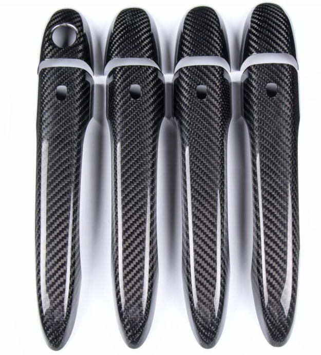 High quality 100% real carbon fiber Auto outer <font><b>door</b></font> <font><b>handle</b></font> cover for <font><b>Maserati</b></font> Ghibli quattroporte Levante LHD car styling image