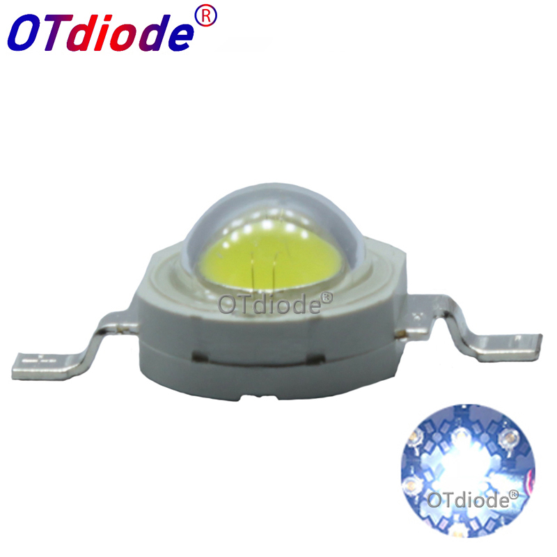 Lot 10 20 50 100pcs1W 3W Cool/Pure White Warm White Cold White 200~260LM LED Emitter Light Lamp 3000k 4500k 10000k 20000k 30000k
