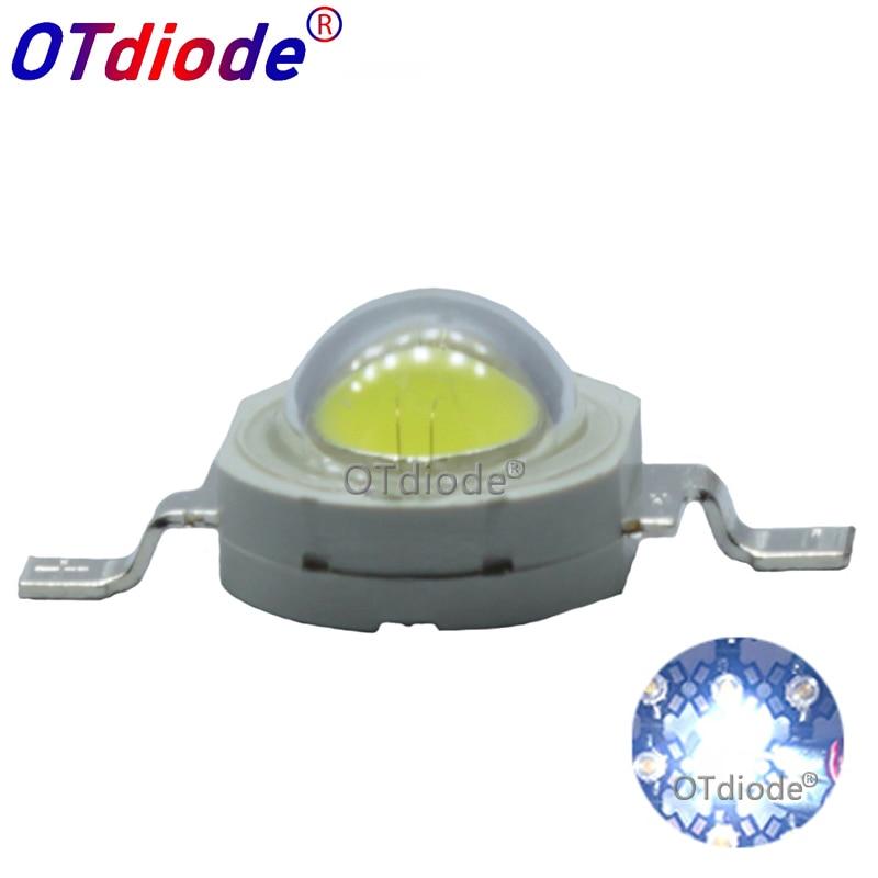 Lot 10 20 50 100pcs1W 3W Cool/Pure White Warm White Cold White 200~260LM LED Emitter Light Lamp 3000k 4500k 10000k 20000k 30000k